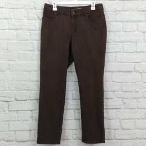 Chico's | Ultimate Fit Slim Leg Brown Jeans